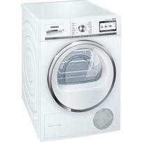 SIEMENS - sèche linge à pompe à chaleur avec condenseur 60cm 9kg a++ blanc - wt47y8h1ff