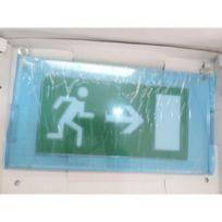 Legrand - 060770 - Plaque signalisation plexi Baes Arcor Sortie flèche horizontal