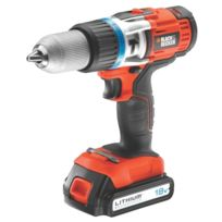 Black & Decker - Perceuse à percussion sans fil Black+Decker 18V