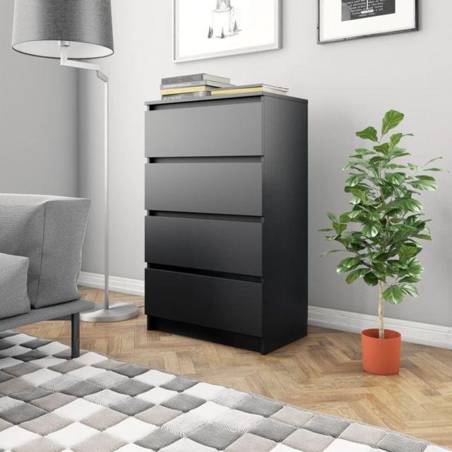 Joli Armoires & meubles de rangement collection Séoul Buffet Noir 70 x 40 x 97 cm Aggloméré