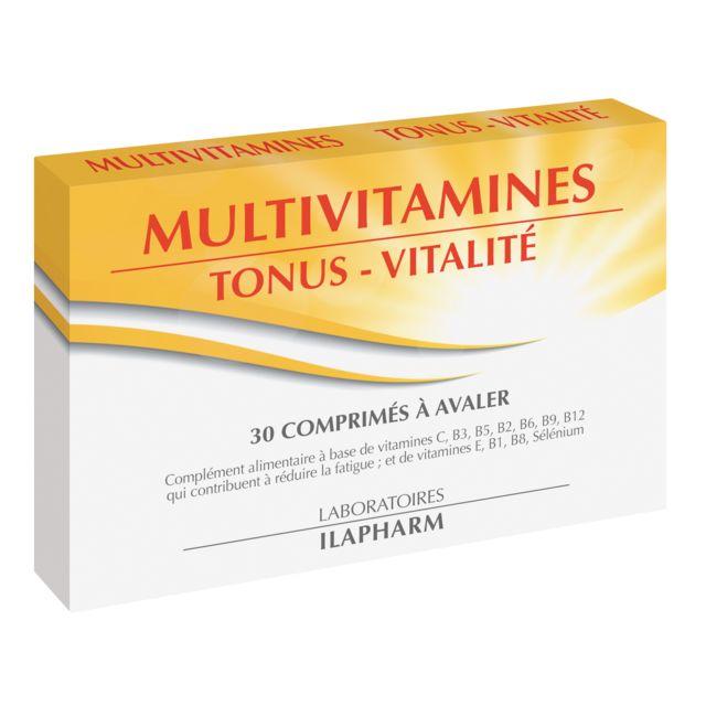 Ilapharm - Multivitamines - Tonus et vitalité - Tonus - vitalité - Boîte de 30 comprimés - Produit en France