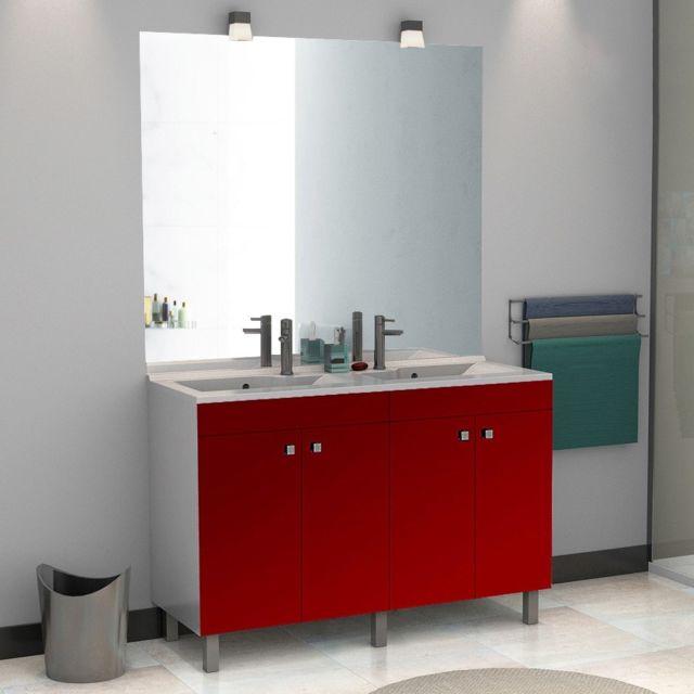 meuble 2 vasque salle bain 120 cm - achat meuble 2 vasque salle ... - Photos Vasque Salle De Bain