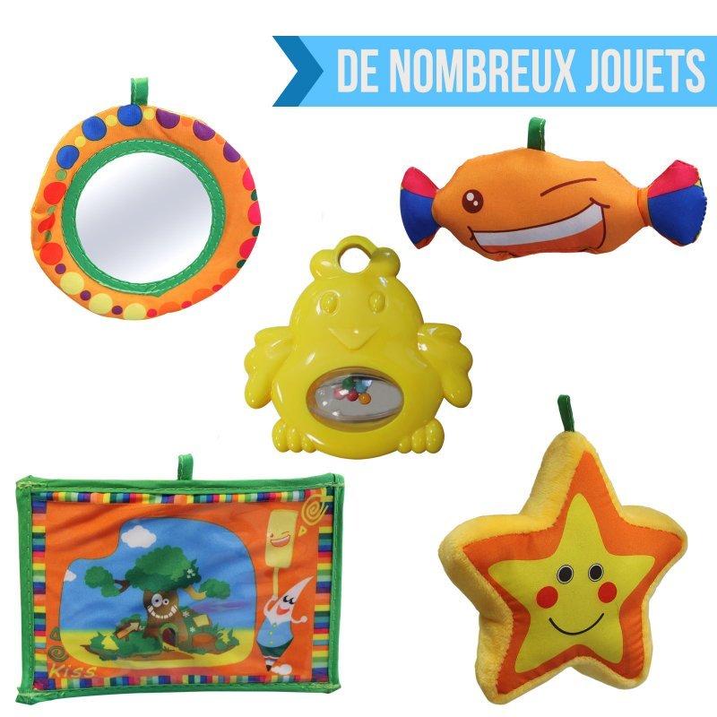 Tapis d'éveil éducatif et musical + jouets - Modèle Petit ange