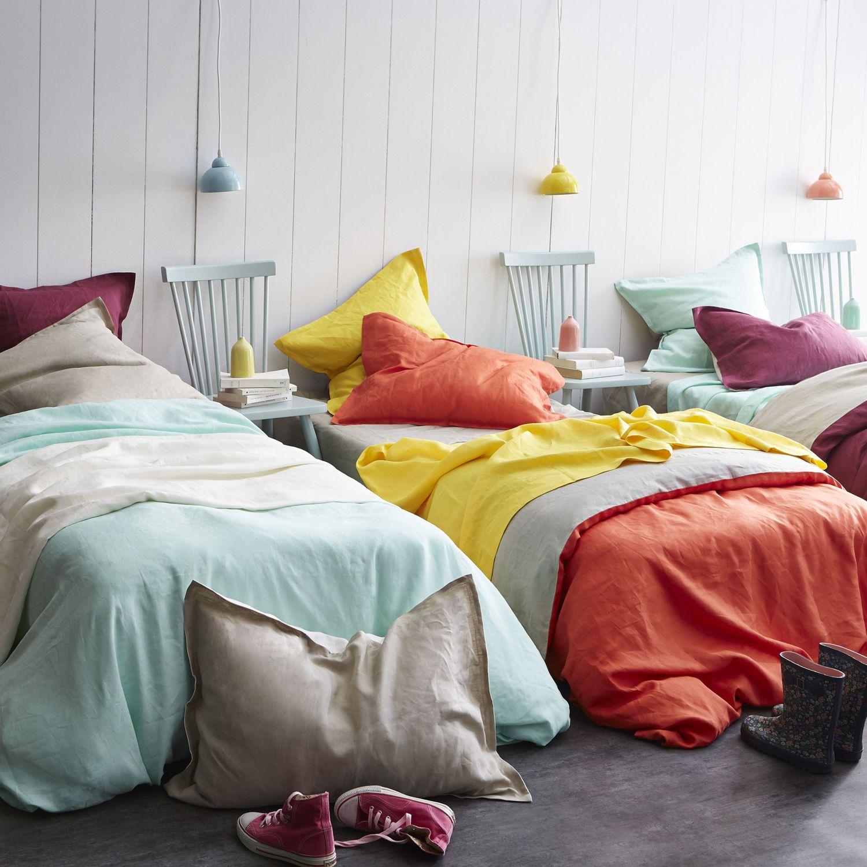 essix housse de couette cottage mandarine 200x200 cm pas cher achat vente housses de. Black Bedroom Furniture Sets. Home Design Ideas