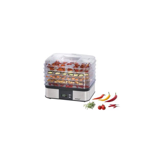 Steba 055500 Ed5 Séchoir a fruits électronique - 350 W - Surface de séchage 5 x 32 x 25 cm - Inox et Noir