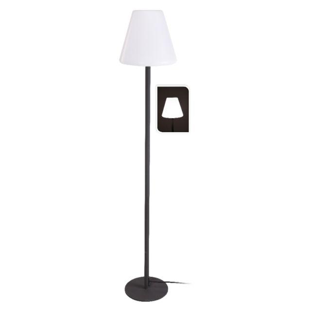 Lampadaire Sur Pied Metal D 28 X H 150 Cm Luminaire Noir Pas