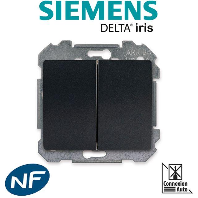 Siemens - Double Poussoir Anthracite Delta Iris