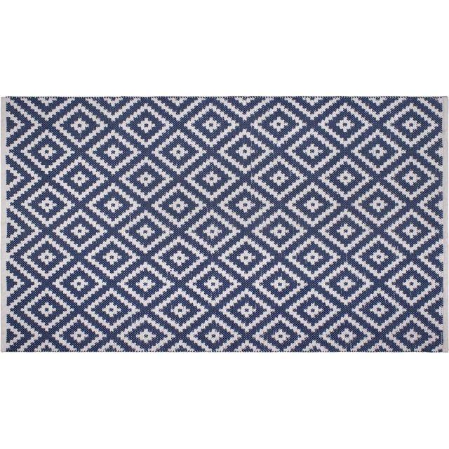 FABHABITAT Tapis intérieur extérieur Chanler bleu 90 x 60
