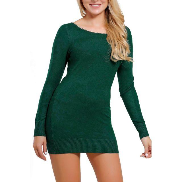 acheter robe pull vert sapin pas cher