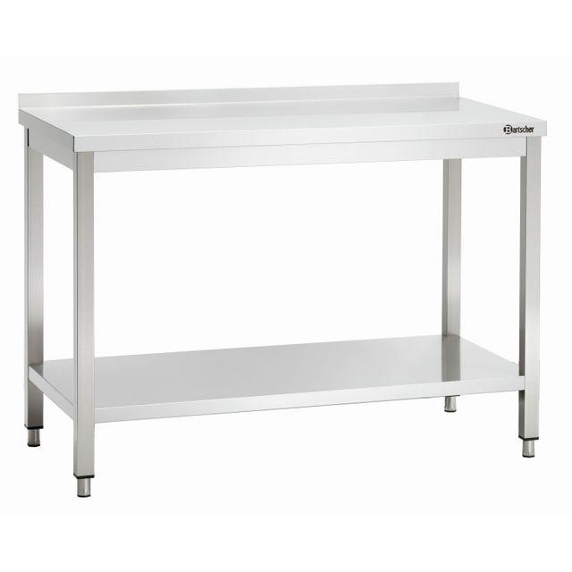 Bartscher Table de travail avec dosseret 600, L1200