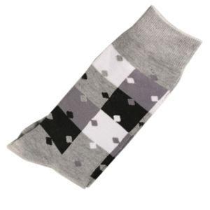 Marque Generique - Modebas.fr - Pack de 2 Paires Chaussettes Homme Classique Puzzle Coton Gris 43-45 - Gris 43/45