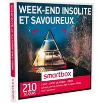 Smartbox - Week-end insolite et savoureux - 210 séjours partout en France ou en Europe : cabanes, yourtes, roulottes, tipis, châteaux, maisons d'hôtes - Coffret Cadeau