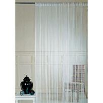 - Rideau avec haut passe tringle 90x240cm ivoire