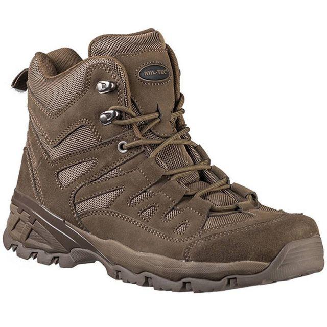 Sans Chaussures Outdoor Homme Haute Qualité En Cuir Miltec Marron