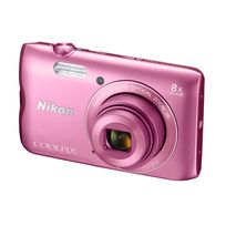 NIKON - appareil photo compact - coolpix a300 rose