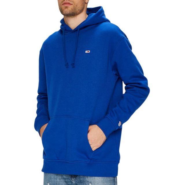 e6f8caa5bf8 Tommy hilfiger - Sweat capuche Tommy Classics Bleu Roi - pas cher Achat    Vente Sweat homme - RueDuCommerce