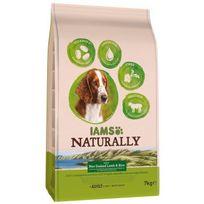 Iams - Naturally Croquettes Agneau Nouvelle-Zélande & Riz - Toutes races - 7 kg - Pour chien adulte