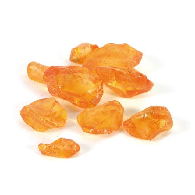 L3C Cdaffaires pierres de verre 650gr orange-taille bouteille 6.5x6.5x16cm