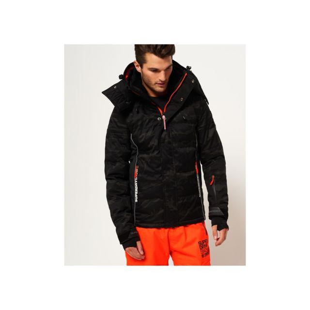 Superdry Brand Clothing Snow Puffer Ski Jacket Shadow Camo