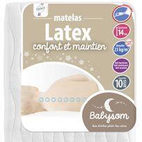 Babysom - Matelas bébé Latex 60 x 120x14 60 x 120x14 - Déhoussable
