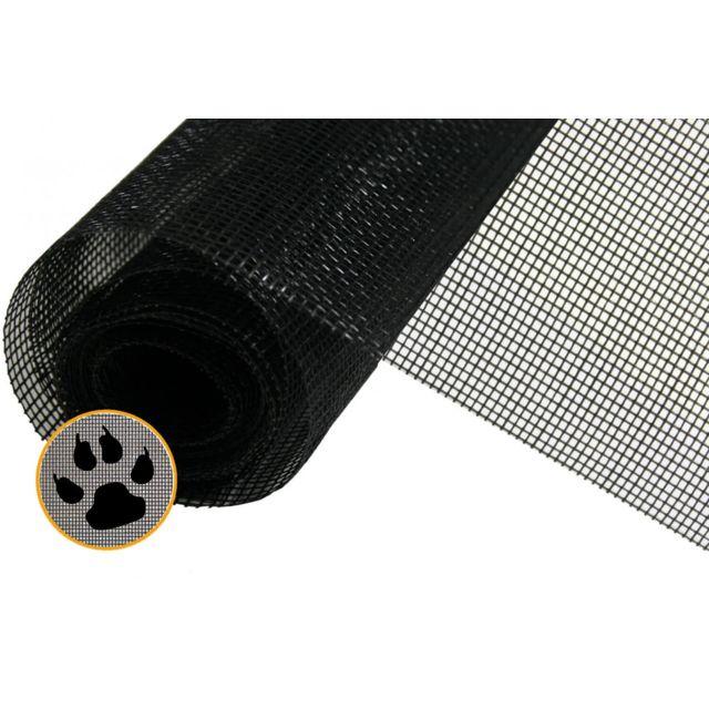 empasa rouleau moustiquaire anti griffe au m tre noir l100 cm pas cher achat vente. Black Bedroom Furniture Sets. Home Design Ideas