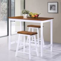 Tabouret 3 Pcs Bois Bar Reference Table Et Splendide Ensembles Meubles Nuku De alofa Massif ARc5Lj43q
