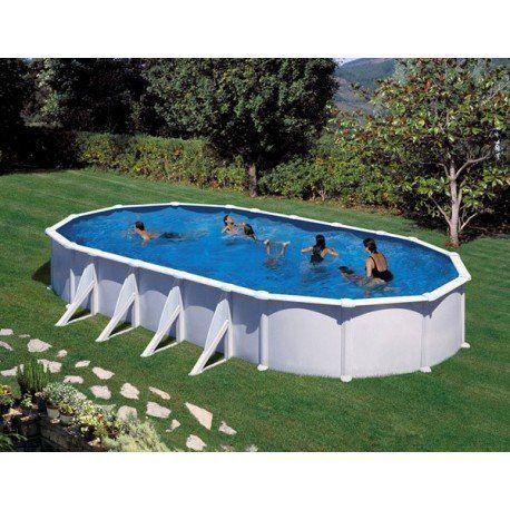 gre pools kit piscine hors sol acier ovale atlantis avec renforts apparents pas cher achat. Black Bedroom Furniture Sets. Home Design Ideas
