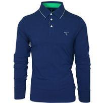 Gant - Polo bleu marine manches longues