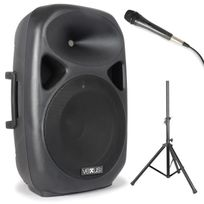 VEXUS - SPS152 Set enceinte sono + pied Bluetooth USB SD MP3 AUX 600W max