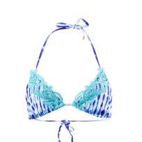 Beach Bunny - Maillot de Bain Triangle Bunny girl Crush ultra Violet Tie Dye Bleu
