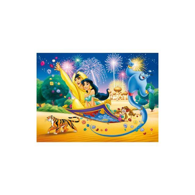 Clementoni Puzzle 60 Pieces Aladin Et Jasmine En Tapis Volant