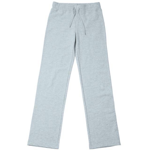 James   Nicholson - Pantalon jogging stretch Femme Jn555 - gris chiné foncé cd8f3043f9b