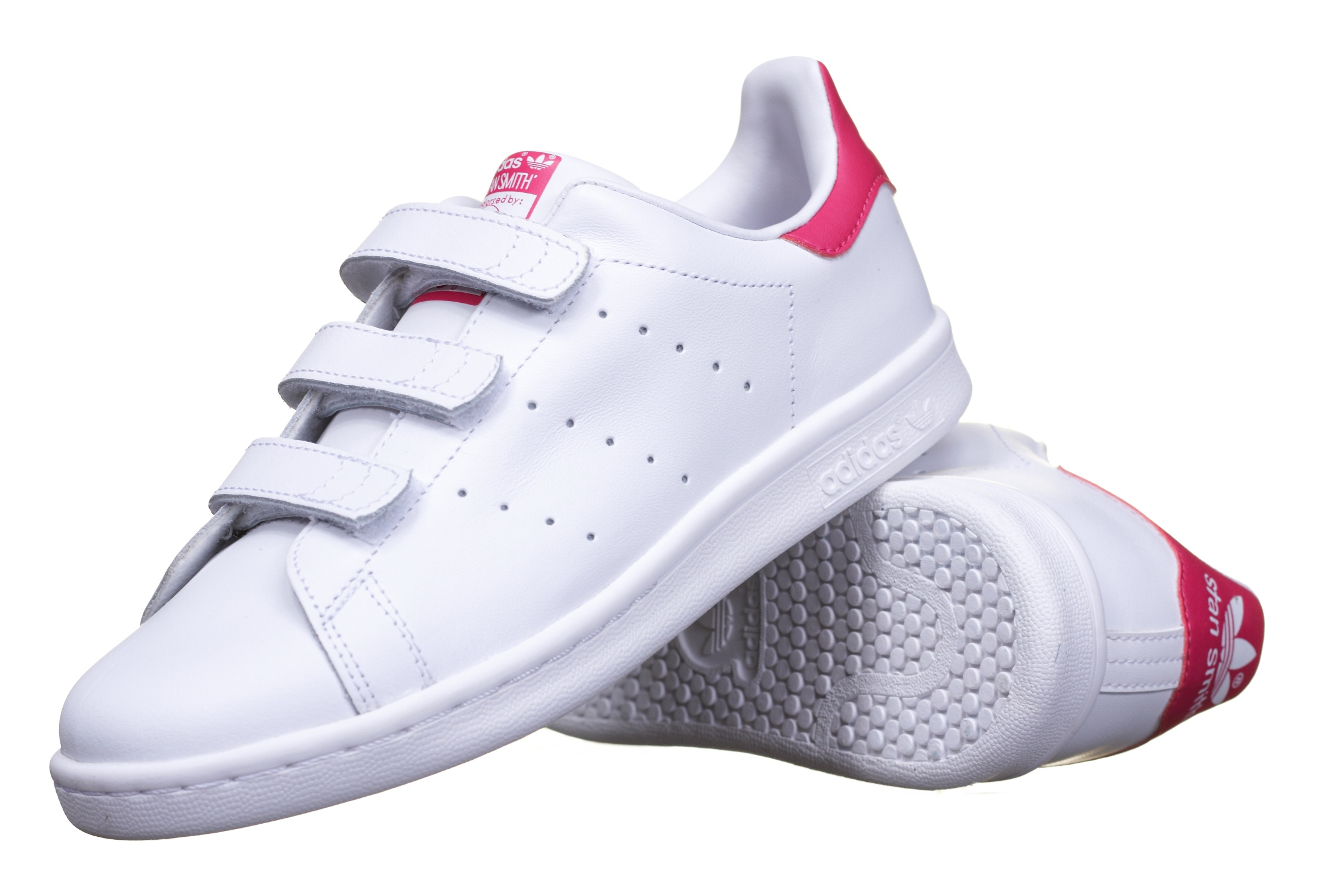 Basket enfant Stan Smith Cf C B32706 Blanc/Rose