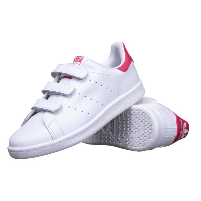 hot sale online fc833 5cc25 Adidas originals - Basket enfant Adidas Stan Smith Cf C B32706 Blanc Rose