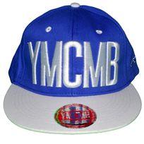 Ymcmb - Casquette Snapback - Taille Réglable - Bleu Blanc