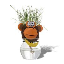 Totalcadeau - Tête d'animal cheveux d'herbe qui pousse chat