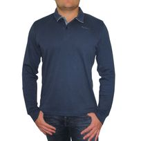 Polos à manches longues Pepe Jeans bleus homme Ux2RoG