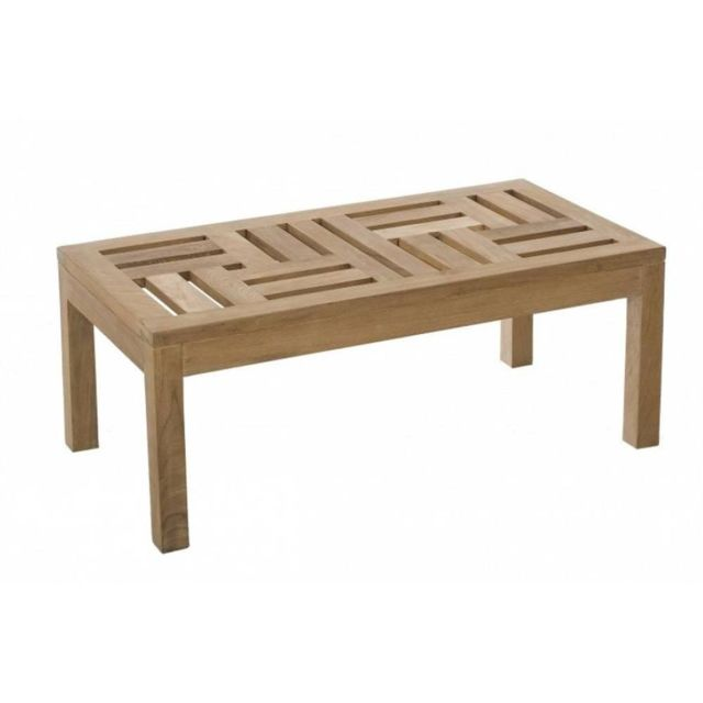 Inside 75 - Table basse de jardin rectangulaire 100 50 cm Fun en ...