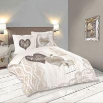 housse couette coeur achat housse couette coeur pas cher rue du commerce. Black Bedroom Furniture Sets. Home Design Ideas