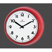 Zassenhaus - Horloge murale Retro Rouge