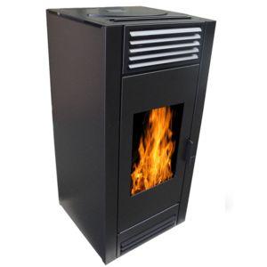 warm tech poele pellets 10kw noir pap10k black pas. Black Bedroom Furniture Sets. Home Design Ideas
