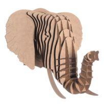 Cardboard Safari - Tête Eléphant en Carton Recyclé - Taille M