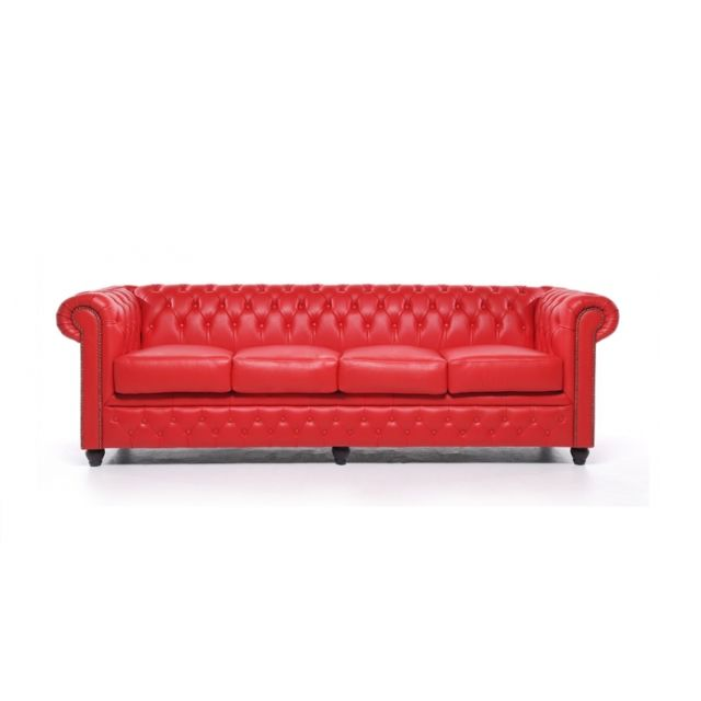 CHESTERFIELD Origine 4 places Rouge