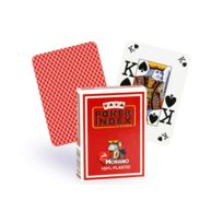Modiano - Cartes Poker Index 100% plastique rouge