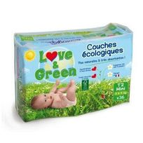 Love And Green - Love & Green - Couches Ecologiques Hypoallergéniques 0% T2 x36