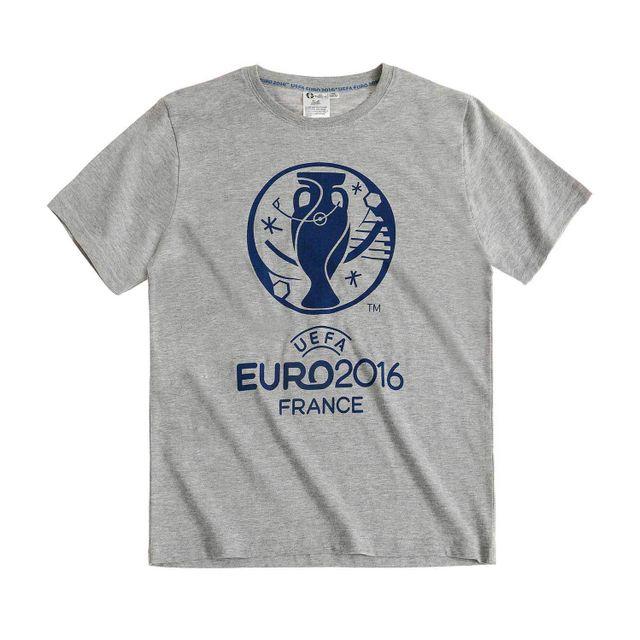 740c0a5abb5e8 Marque Generique - Uefa Euro 2016 Garcon Tee-shirt Gris - 16 ans ...
