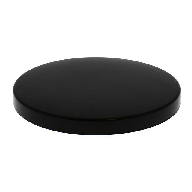 Home Equipement - Cache plaque uni noir Ø 200 mm pour Table de cuisson
