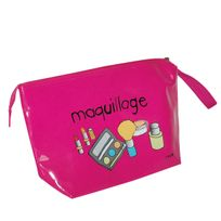 Incidence - Trousse en vinyle rose fuchsia taille L - Maquillage
