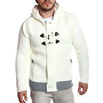 Rerock - Gilet épais homme en laine écru