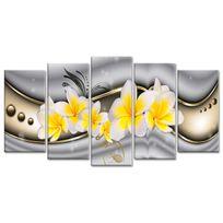 Declina - Tableau abstrait fleurs des îles - Décoration abstraite à prix bas